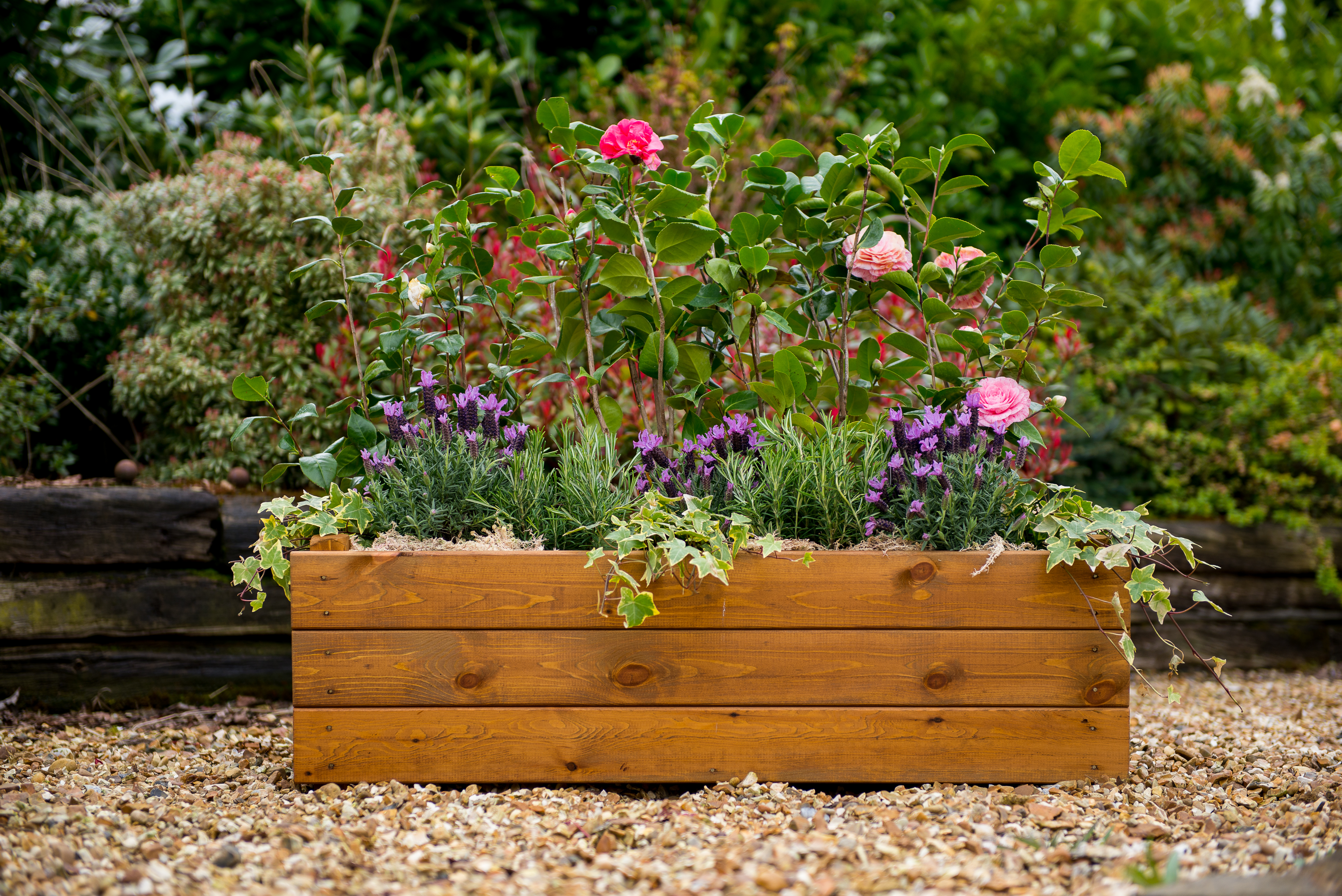 screen planter planters as used trough cms granite garden